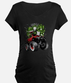 Ghoulish Monster Race Truck Maternity T-Shirt