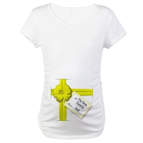A Gift from God Yellow Maternity T-Shirt