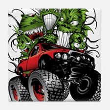 Ghoulish Monster Race Truck Tile Coaster