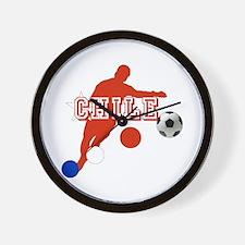 Chile La Roja Futbol Wall Clock