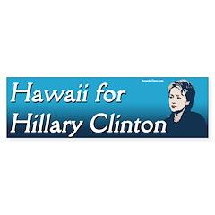 Hawaii for Hillary Clinton bumper sticker