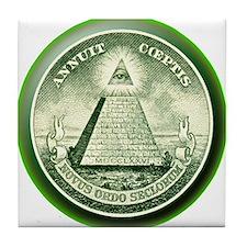 The Great Seal - Pyramid Eye Tile Coaster