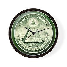 The Great Seal - Pyramid Eye Wall Clock