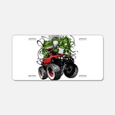 Ghoulish Monster Race Truck Aluminum License Plate