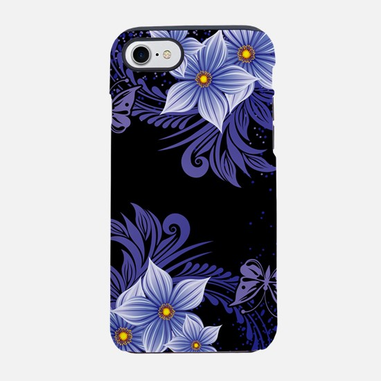 Flowers And Butterfly iPhone 7 Tough Case