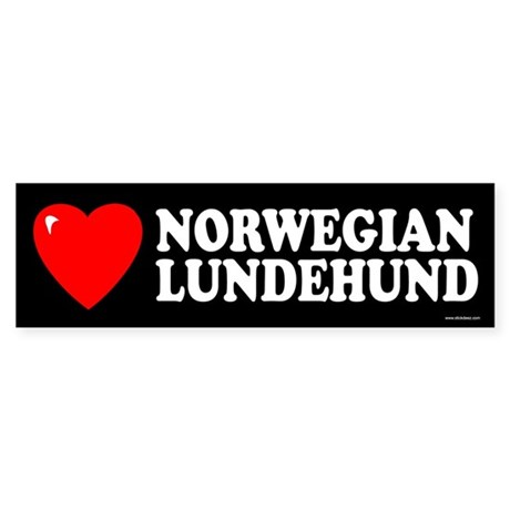 NORWEGIAN LUNDEHUND Bumper Sticker
