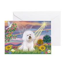 Cloud Angel & Bichon Greeting Card