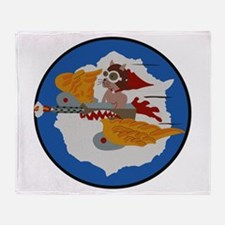 WWII Tuskegee Airmae Red Tail 301st Throw Blanket