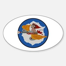 WWII Tuskegee Airmae Red Tail 301st Sticker (Oval)