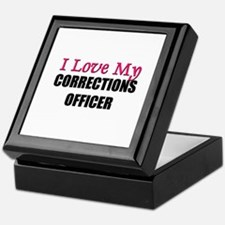 I Love My CORRECTIONS OFFICER Keepsake Box