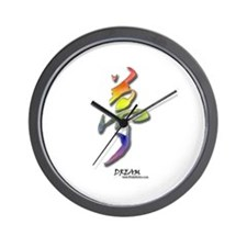 Rainbow Kanji Dream Wall Clock