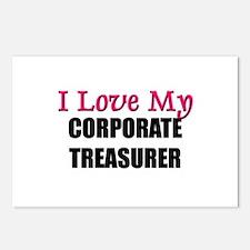 I Love My CORPORATE TREASURER Postcards (Package o