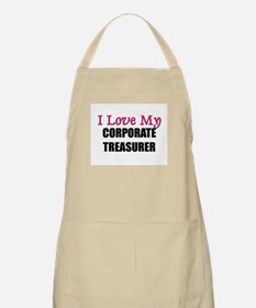 I Love My CORPORATE TREASURER BBQ Apron
