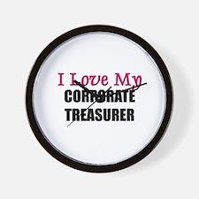 I Love My CORPORATE TREASURER Wall Clock