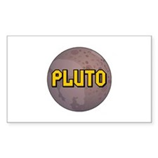 Pluto Planet Rectangle Decal