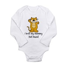 Cute I love my mommy Long Sleeve Infant Bodysuit