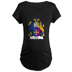 Isaac Family Crest Maternity Dark T-Shirt