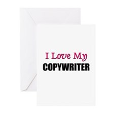 I Love My COPYWRITER Greeting Cards (Pk of 10)