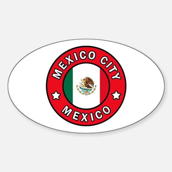 Mexico City Sticker (Oval)