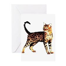 Bengal Cat: Raja Greeting Cards (Pk of 10)