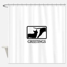 Stumpy Tail Cattle Dog Shower Curtain