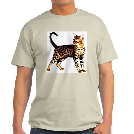 Bengal Cat: Raja Ash Grey T-Shirt