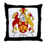 Impey Family Crest Throw Pillow