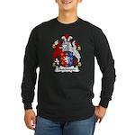 Hutchinson Family Crest Long Sleeve Dark T-Shirt