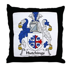 Hutchings Family Crest Throw Pillow