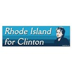 Rhode Island for Clinton bumper sticker