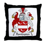 Huntington Family Crest Throw Pillow