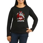Huntington Family Crest  Women's Long Sleeve Dark
