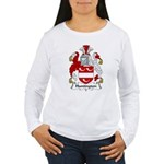 Huntington Family Crest  Women's Long Sleeve T-Shi