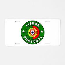 Lisbon Aluminum License Plate