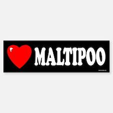 MALTIPOO Bumper Bumper Bumper Sticker