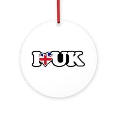 I Heart UK Ornament (Round)