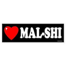 MAL-SHI Bumper Bumper Sticker