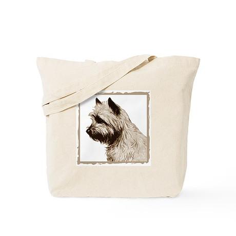 Cairn Terrier Profile Tote Bag