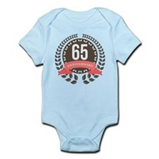 65 Years Anniversary Laurel Badge Infant Bodysuit