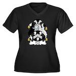Hull Family Crest Women's Plus Size V-Neck Dark T-