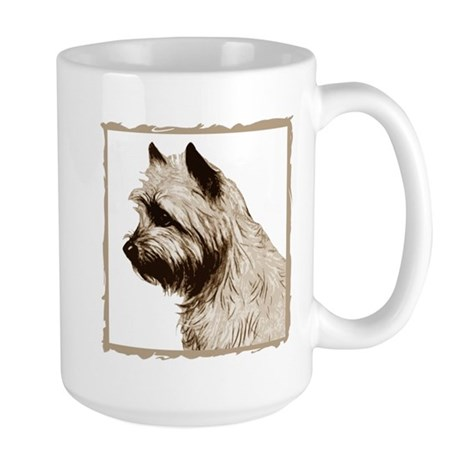 Cairn Terrier Profile Large Mug