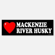 MACKENZIE RIVER HUSKY Bumper Bumper Bumper Sticker