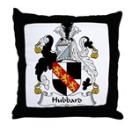 Hubbard Family Crest Throw Pillow