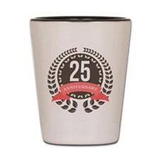 25 Years Anniversary Laurel Badge Shot Glass