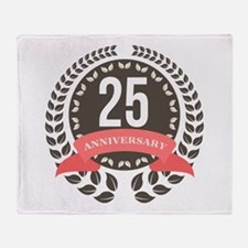 25 Years Anniversary Laurel Badge Throw Blanket