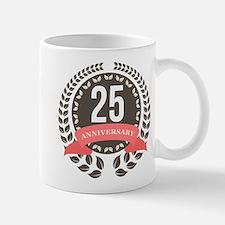 25 Years Anniversary Laurel Badge Mug