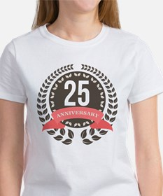 25 Years Anniversary Laurel Badge Women's T-Shirt
