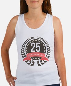 25 Years Anniversary Laurel Badge Women's Tank Top