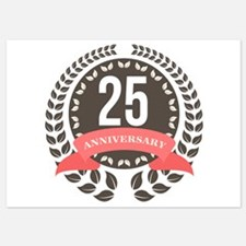 25 Years Anniversary Laurel Badge 5x7 Flat Cards