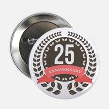 "25 Years Anniversary Laurel Badge 2.25"" Button"